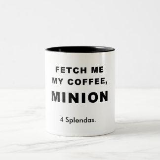 FETCH ME MY COFFEE, MINION Two-Tone COFFEE MUG