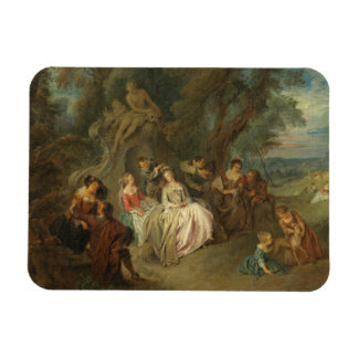 Fête Champêtre, c. 1730 (oil on canvas) Magnet