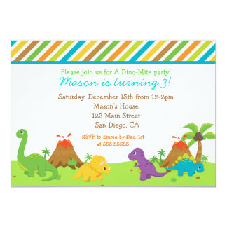 Fête d'anniversaire de dinosaure Invitaions Invitation