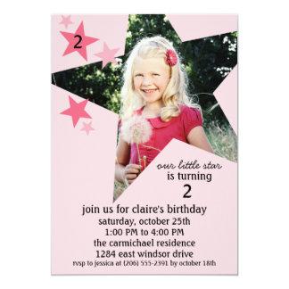 Fête d'anniversaire de princesse Pink Superstar Carton D'invitation 12,7 Cm X 17,78 Cm