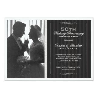 Fête d'anniversaire élégante de mariage de photo cartons d'invitation