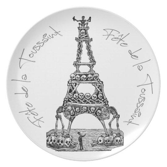 Fête de la Toussaint Eiffel Tower Melamine Plate
