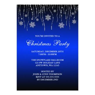 Fête de Noël de flocons de neige d'étincelle de Invitations Personnalisables