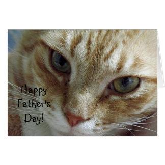Fête des pères heureuse de chat carte de vœux