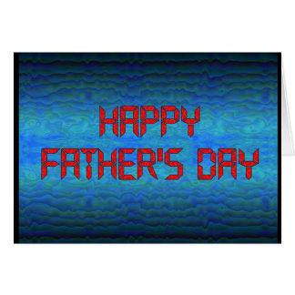 Fête des pères heureuse - geek d'ordinateur carte de vœux