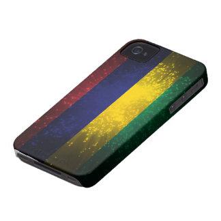 Feu d'artifice de drapeau des Îles Maurice Coque iPhone 4 Case-Mate