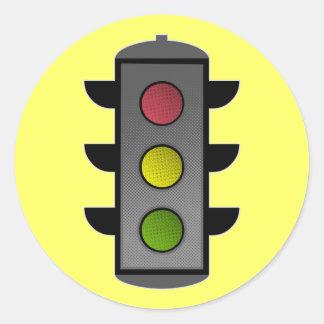 Feu de signalisation adhésif rond