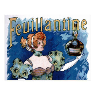 Feuillantine Liquor  Advertisement Postcard