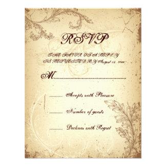 Feuille beige brune vintage de rouleau épousant la invitations