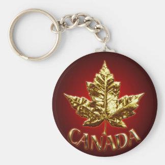Feuille d érable de chrome d or de porte - clé de porte-clés