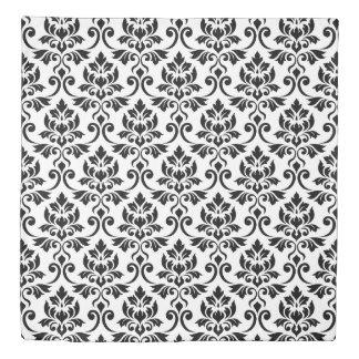 Feuille Damask Big Pattern Black Duvet Cover