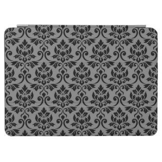 Feuille Damask (H) Pattern Black on Gray