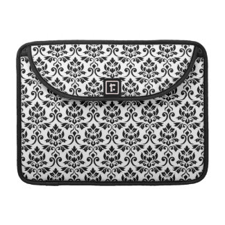 Feuille Damask Pattern Black on White Sleeve For MacBook Pro