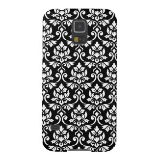 Feuille Damask Pattern White on Black Galaxy S5 Case