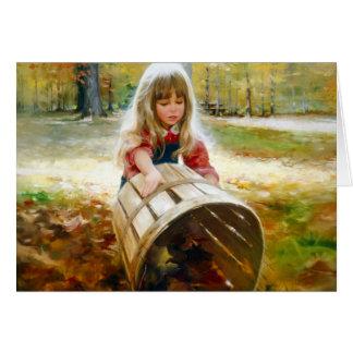 Feuille d'automne carte de vœux