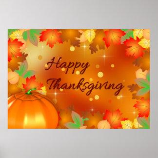 Feuille d'automne coloré - affiche de thanksgiving