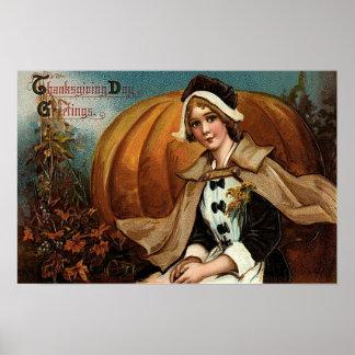 Feuille d'automne de citrouille de pèlerin