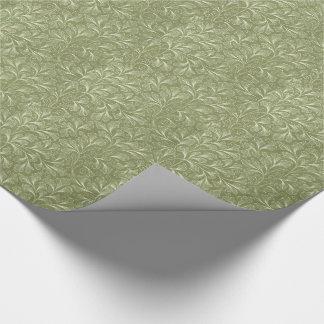 Feuille de ginkgo biloba sur le vert sauge papiers cadeaux
