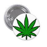 feuille de marijuana macaron rond 2,50 cm
