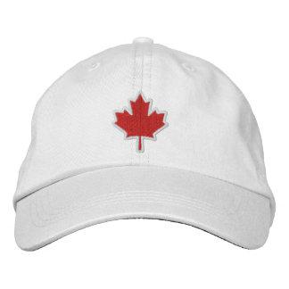 Feuille d'érable brodée par broderie canadienne casquettes brodées