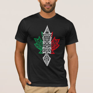 Feuille d'érable canadienne italienne t-shirt