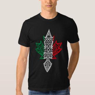 Feuille d'érable canadienne italienne t-shirts