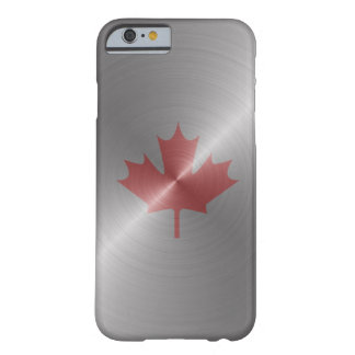 Feuille d'érable de platine du Canada Coque iPhone 6 Barely There