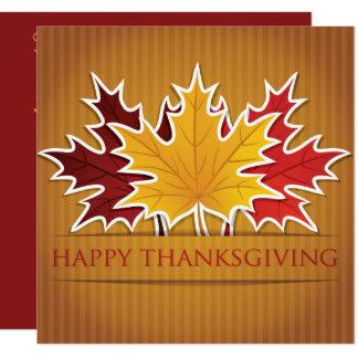Feuille d'érable de thanksgiving carton d'invitation  13,33 cm