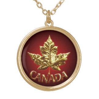 Feuille d'érable d'or du Canada de collier de souv