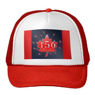 Feuille d'érable du Canada 150th et célébration de Casquettes De Camionneur