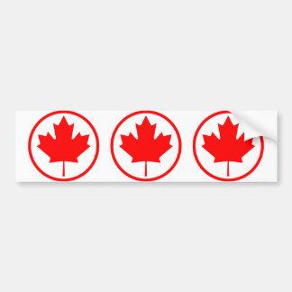 Feuille d'érable du Canada à l'intérieur de d'un a Autocollant De Voiture