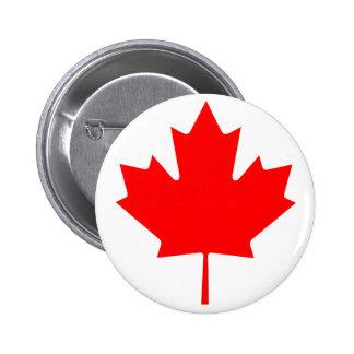 Feuille d'érable du Canada Macaron Rond 5 Cm