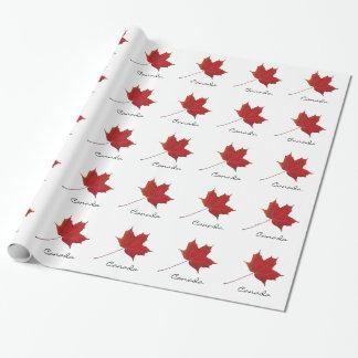Feuille d'érable rouge - Canada Papier Cadeau