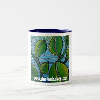 Feuille d'océan mug bicolore