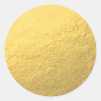 Feuille d'or élégante imprimée adhésifs ronds