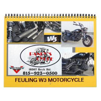 Feuling W3 Motorcycle Calendar 2016