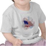Feux d'artifice de drapeau américain de KRW T-shirt