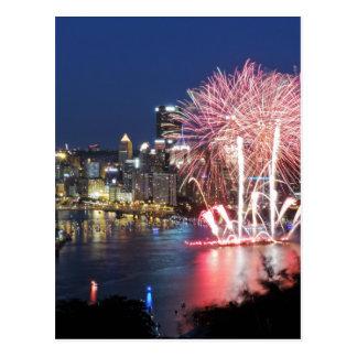 Feux d'artifice de Pittsburgh Carte Postale
