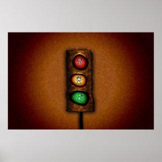 Feux de signalisation poster