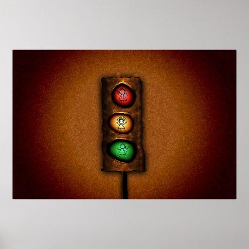 Feux de signalisation affiche