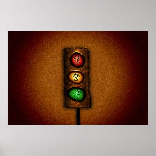 Feux de signalisation posters