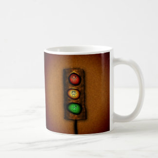 Feux de signalisation mug blanc