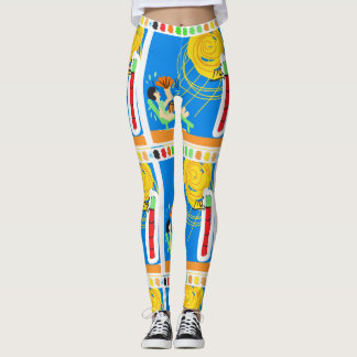 Fever Pitch Cartoon Leggings