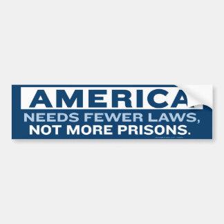 Fewer Laws Bumper Sticker