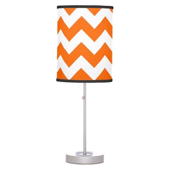 FF6600 Orange Zigzag Table Lamp