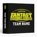 FFL Fantasy Football League Planner Vinyl Binder