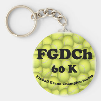 FGDCh 60 K, Flyball Grand Champ, 60,000 Points Keychain
