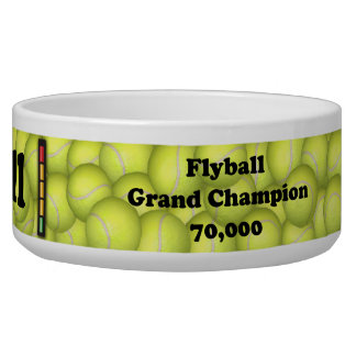 FGDCh 70 K, Flyball Grand Champ, 70,000 Points Dog Bowls