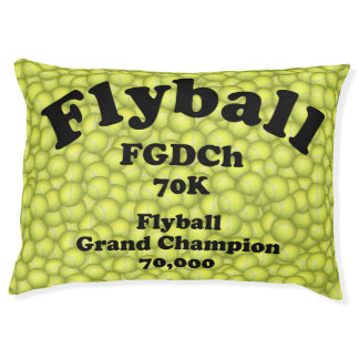 FGDCh 70 K, Flyball Grand Champ, 70,000 Points Large Dog Bed