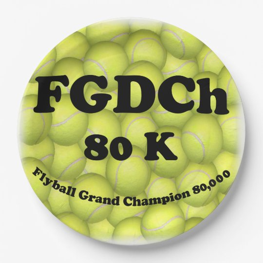 """FGDCh 80K, Flyball Grand Champ 80K Paper Plates 8"""" 9 Inch Paper Plate"""